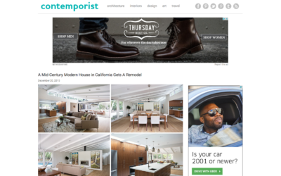 Contemporist featured our Lafayette Mid Century Modern Remodel