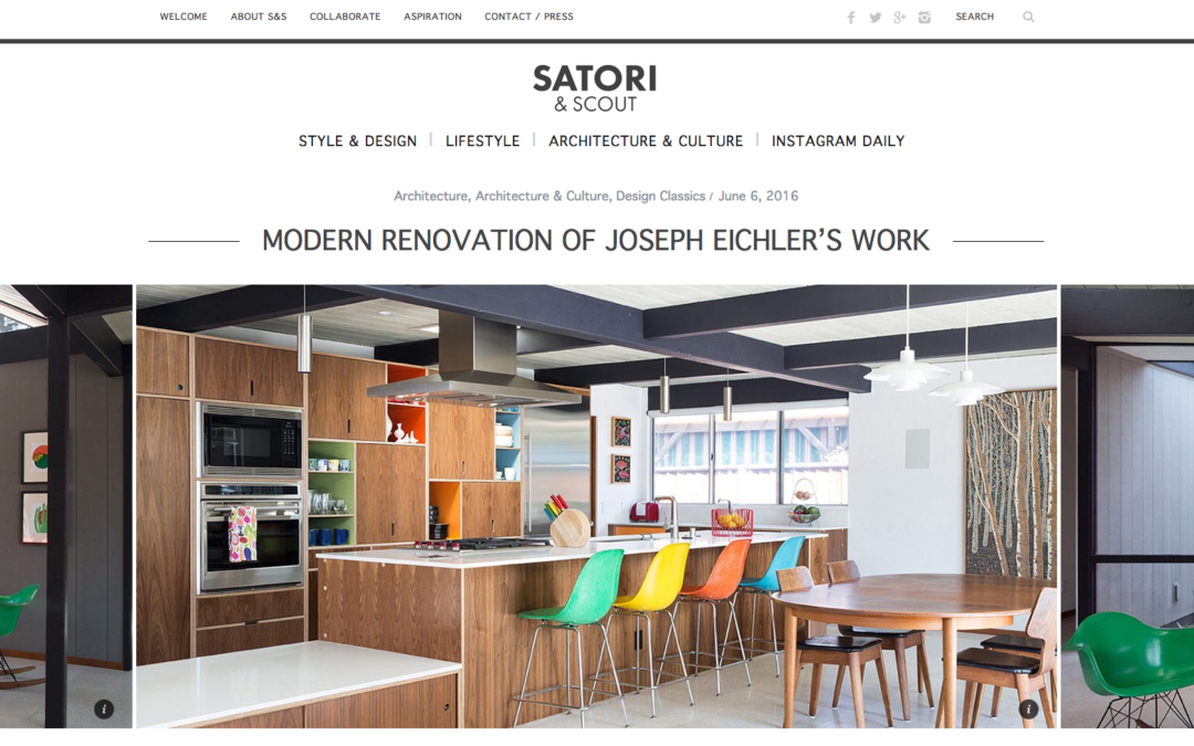 Satori and Scout featured our Renewed Classic Eichler