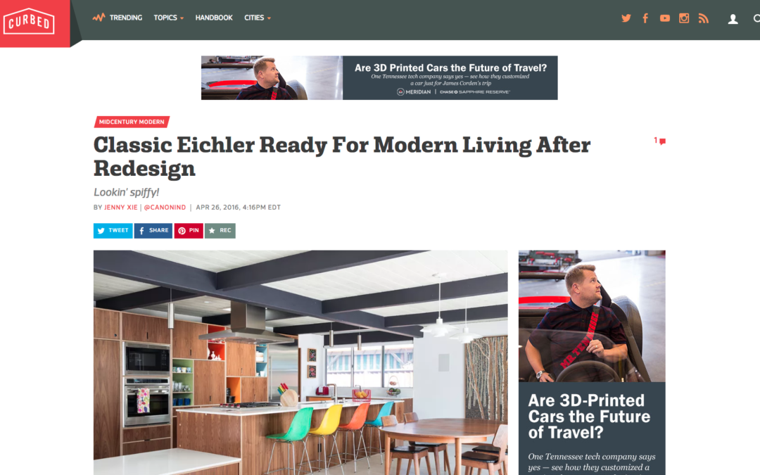 Curbed featured our Renewed Classic Eichler