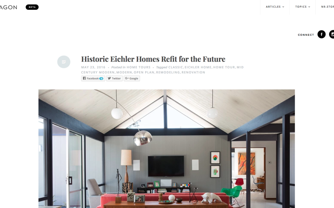 Nonagon featured our Renewed Classic Eichler