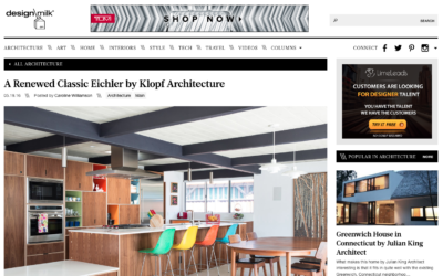 Design Milk featured our Renewed Classic Eichler