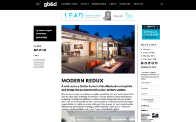 Green Building and Design featured our Truly Open Eichler Remodel