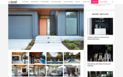 Decorist features our Glass Wall House