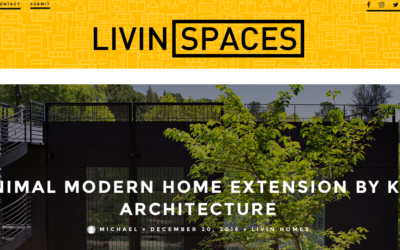 Living Spaces features our Minimal Modern Addition