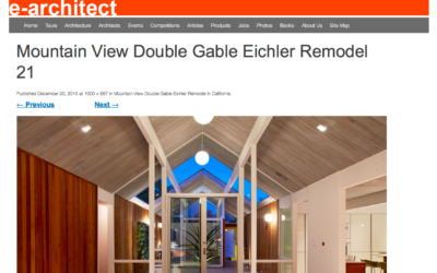 E Architect features our Mountain View Double Gable Eichler