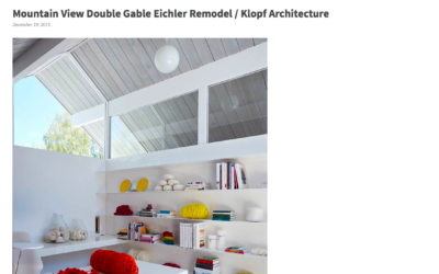 Architecture Lab features our Mountain View Double Gable Eichler