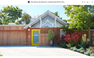 Dwell features our Mountain View Double Gable Eichler Remodel