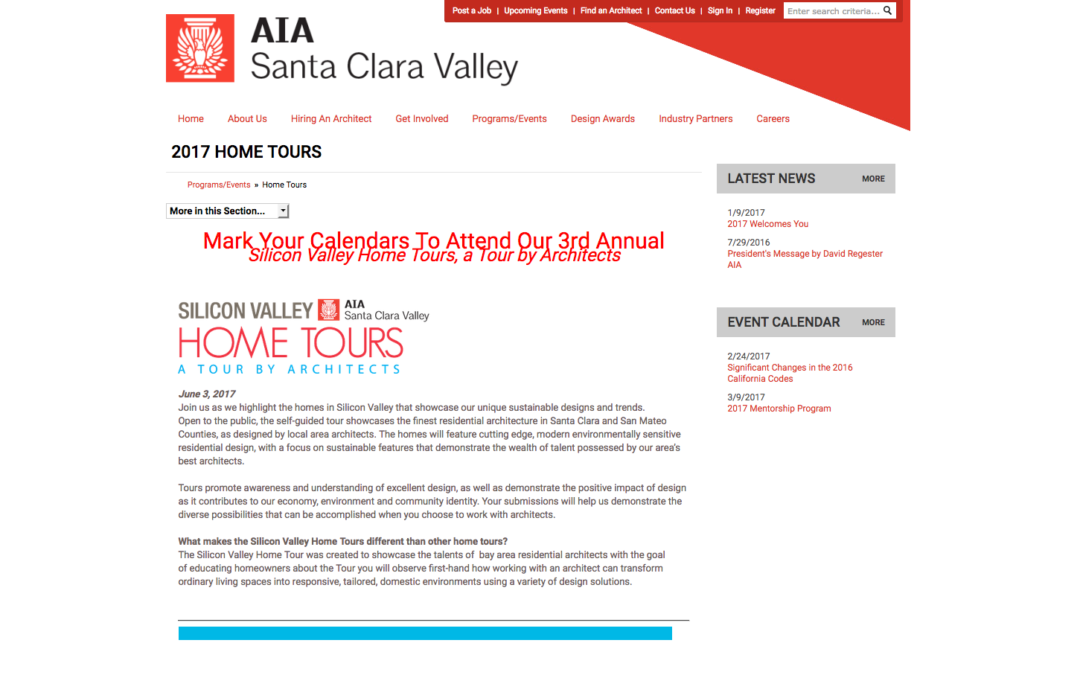 AIA Santa Clara Valley 2017 Home Tour