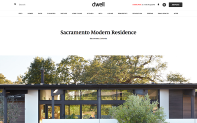 Dwell features our Sacramento Modern New Residence