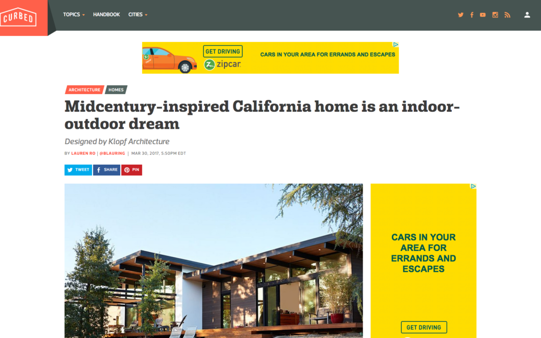 Curbed features our Sacramento Modern New Residence