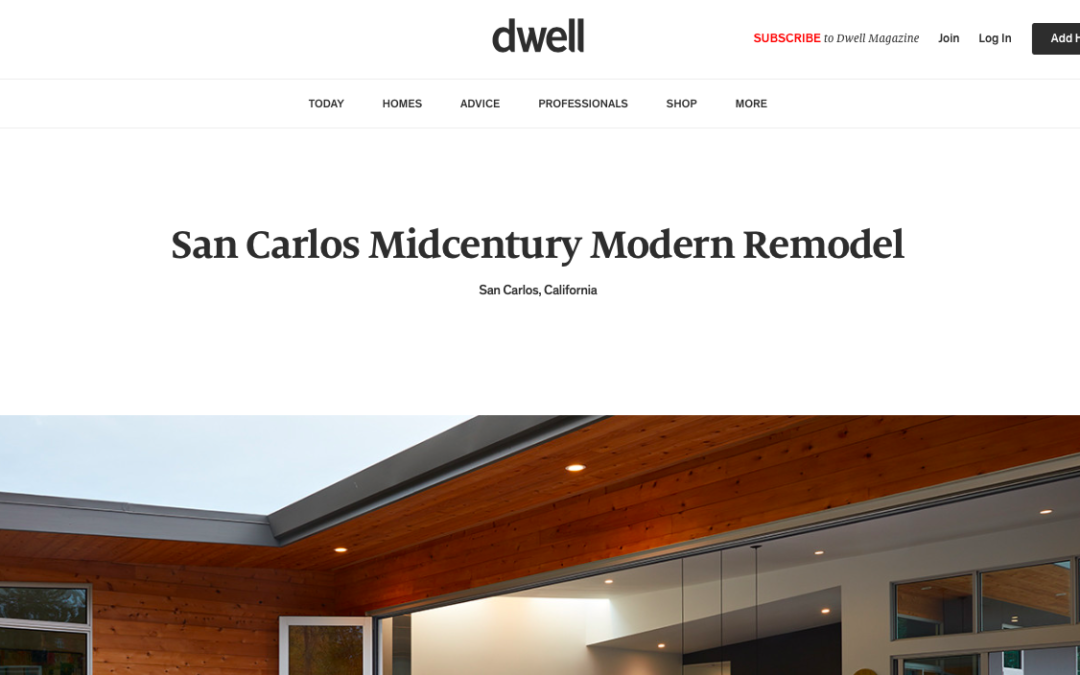 Dwell features our San Carlos Midcentury Modern Remodel