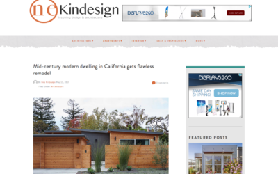 One Kind Design features our San Carlos Midcentury Modern Remodel