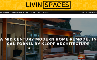 Livinspaces features our San Carlos Midcentury Modern Remodel