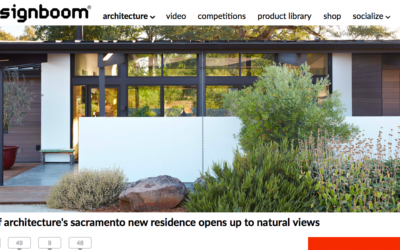 designboom features our New Sacramento House