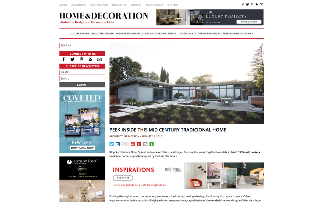 Home and Decoration features our Midcentury Modern View Home Remodel