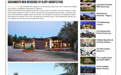 Architecture Art Designs features our Sacramento New Residence