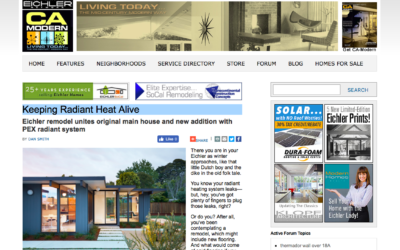CA Modern features our Mid-Mod Eichler Addition Remodel