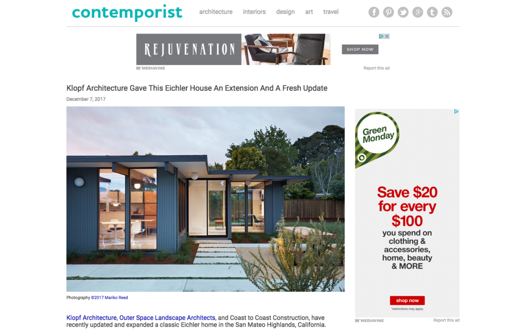 Contemporist features our Mid-Mod Eichler Addition Remodel