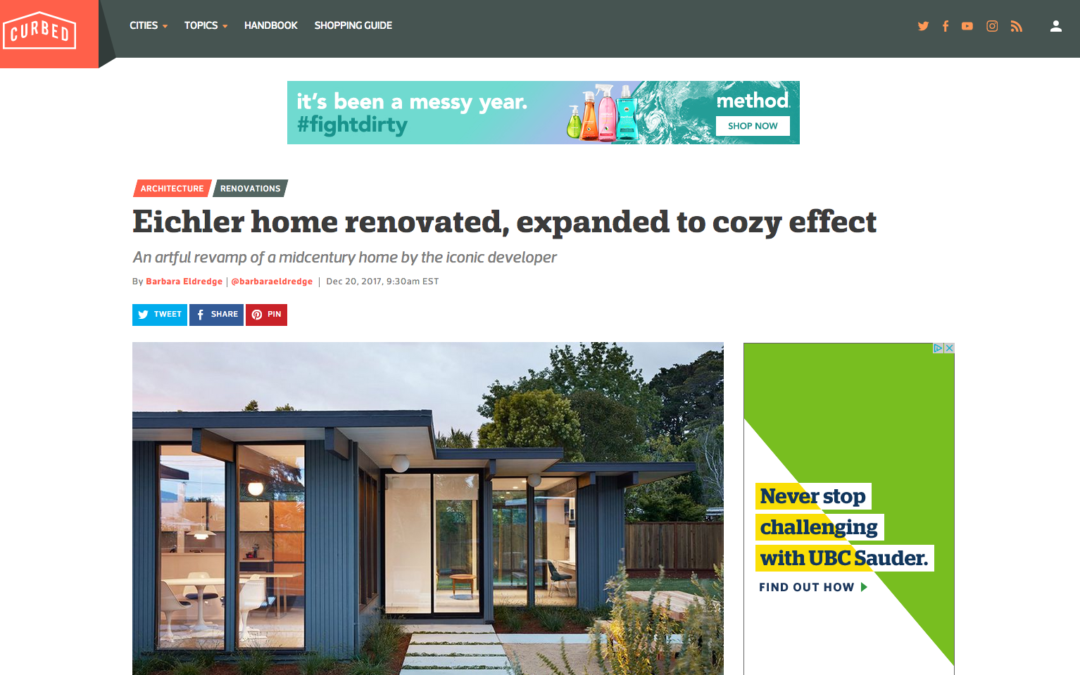 Curbed features our Mid-Mod Eichler Addition Remodel