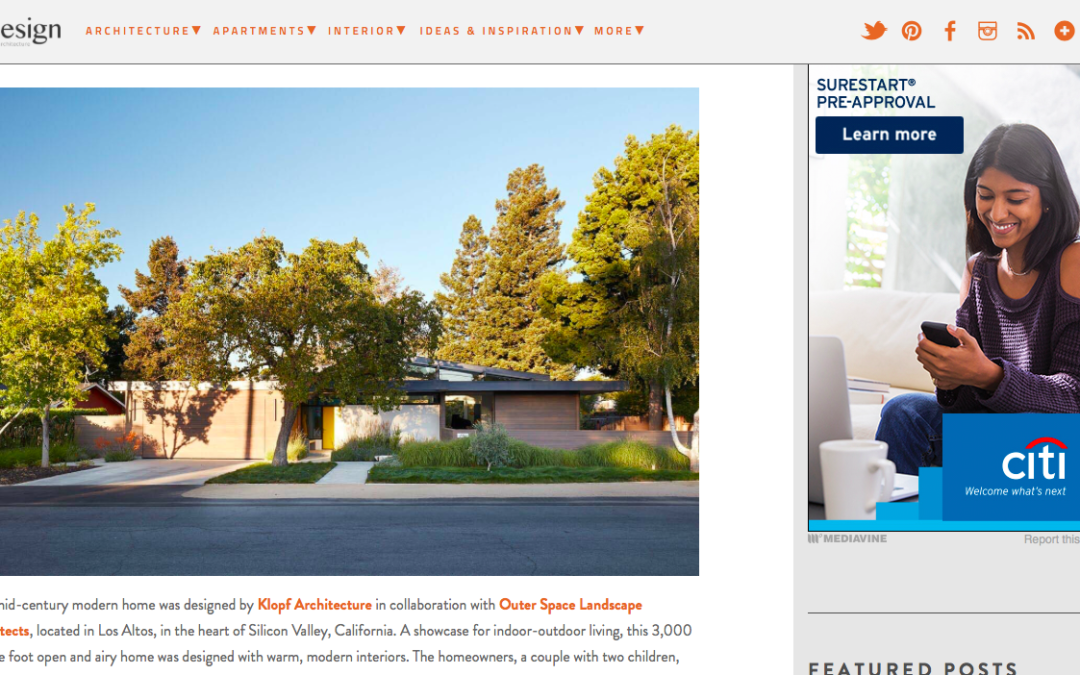 One Kindesign features our Los Altos New Residence