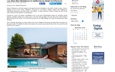 AECCafe features our Los Altos New Residence