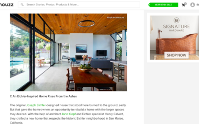 Houzz features our Glass Wall House