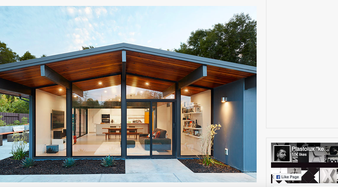 Plastolux features our Palo Alto Eichler Remodel