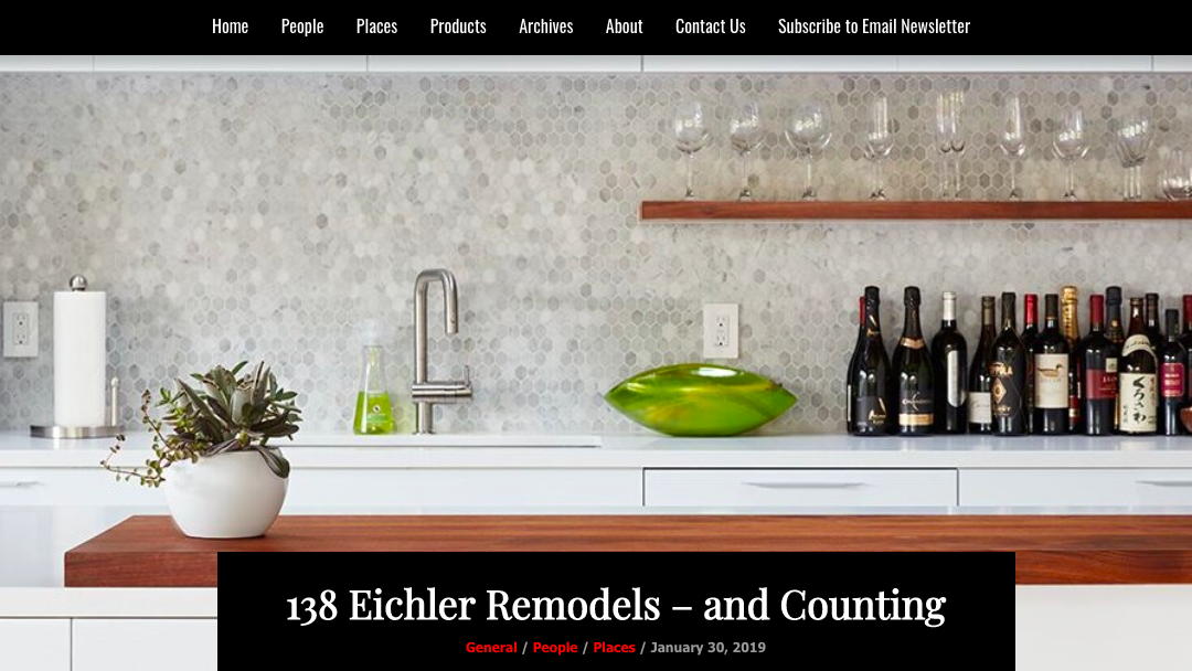 Architects and Artisans features our Palo Alto Eichler Remodel