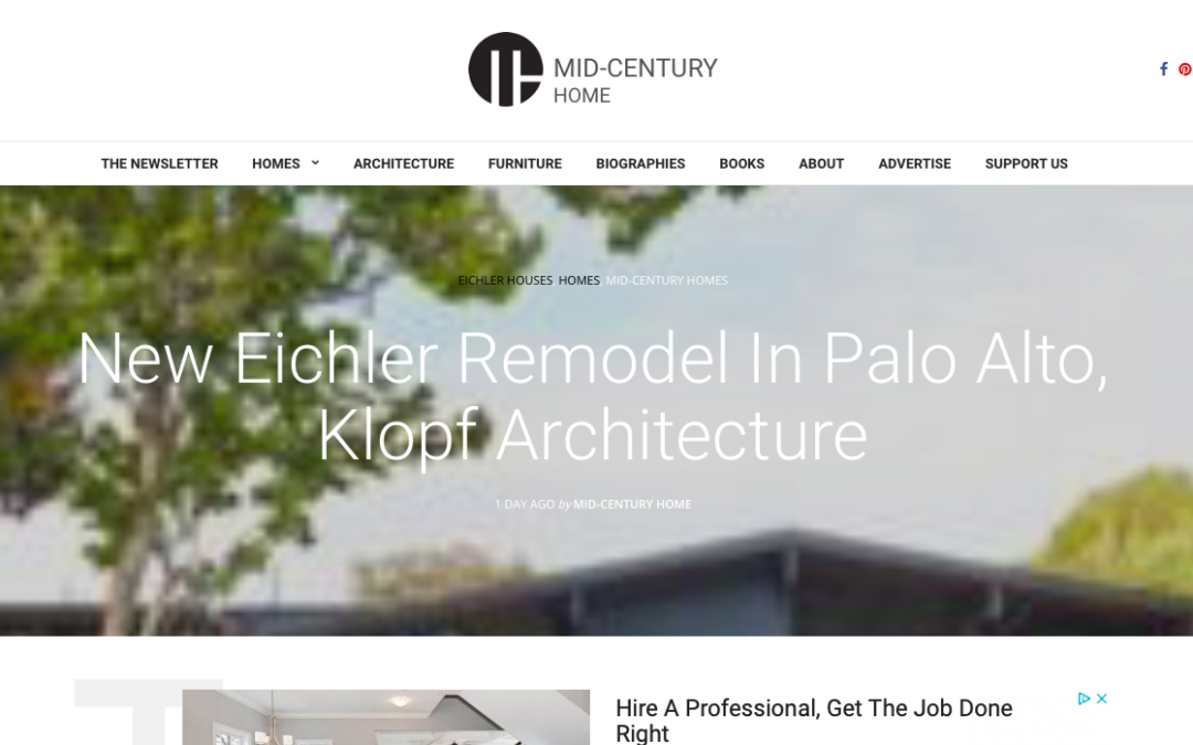Mid-Century Home features our Palo Alto Eichler Remodel