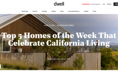 Dwell features our Los Altos New Residence