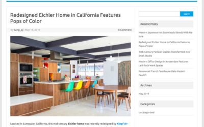 Feature about our Renewed Classic Eichler Remodel