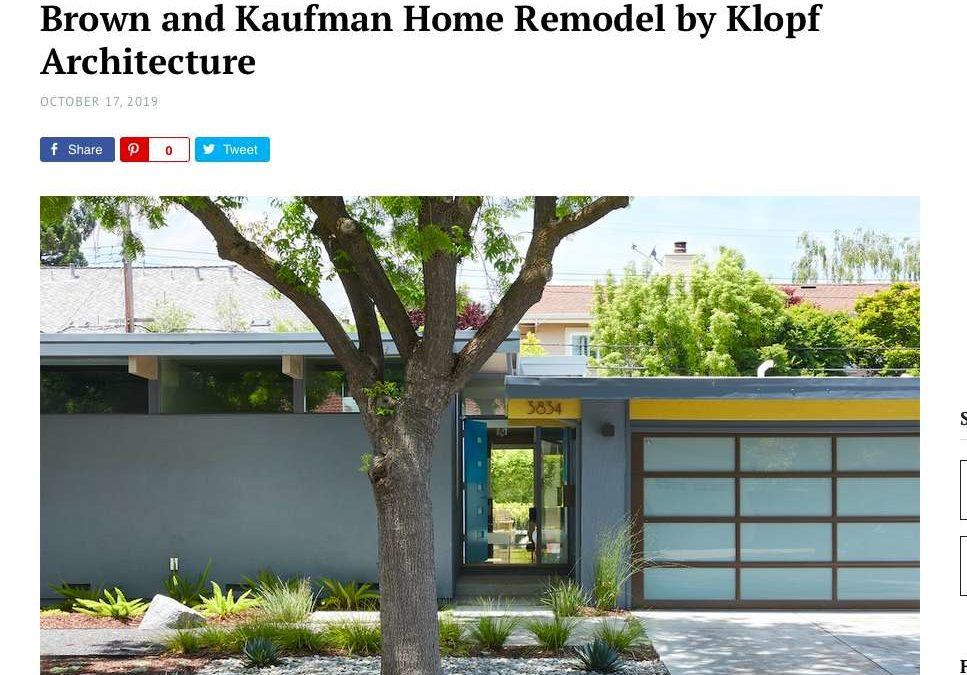 Home World Design features our Brown and Kaufman Remodel