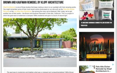 Architecture Art Designs features our Brown and Kaufman Remodel