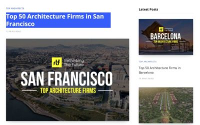 "Rethinking The Future names Klopf Architecture ""Top 50 Architecture Firms in San Francisco"""