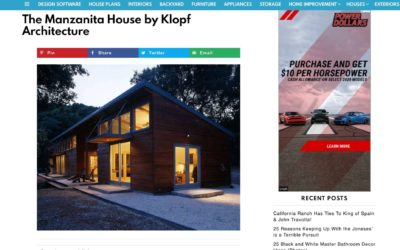 Home Stratosphere features our Manzanita House