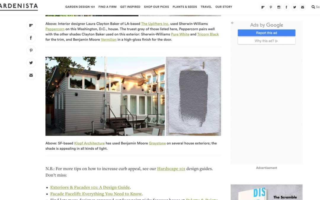 Gardenista features our Net Zero Energy House