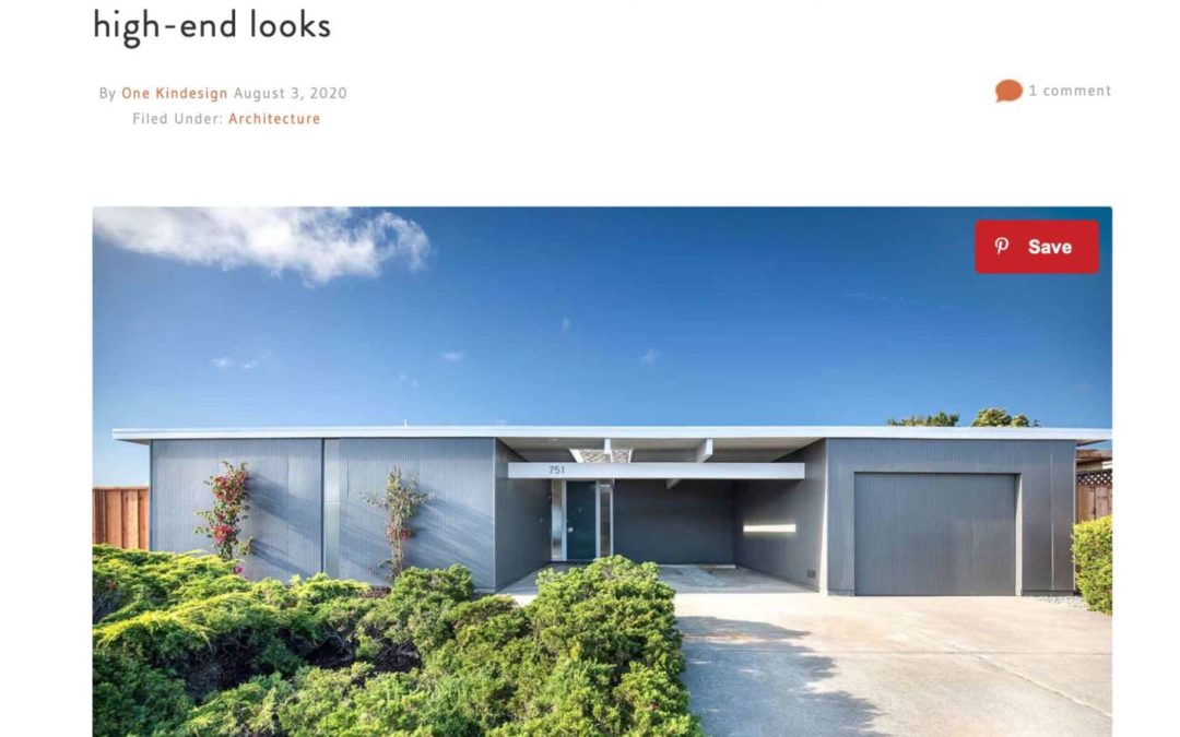 One Kindesign Features our Foster City Eichler Remodel