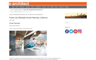 e-architect Features our Foster City Eichler Remodel