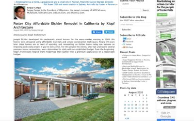 AECCafe features our Foster City Affordable Eichler Remodel