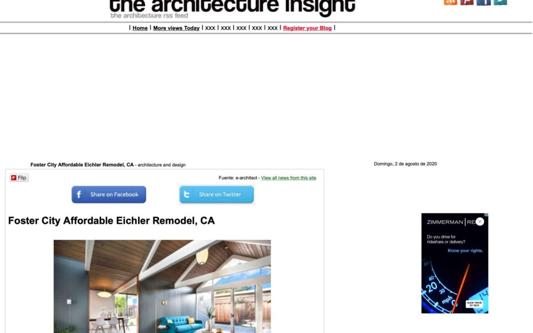 The Architecture Insight Features our Foster City Eichler Remodel