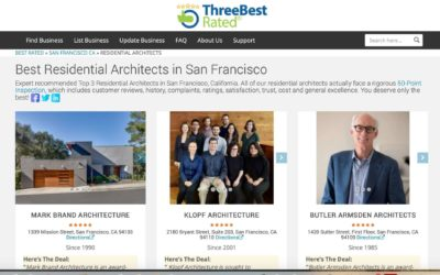 "Three Best Rated includes Klopf Architecture – ""3 Best Residential Architects in San Francisco"""