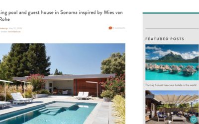 One Kindesign Features our Sonoma Pool House and Guest House