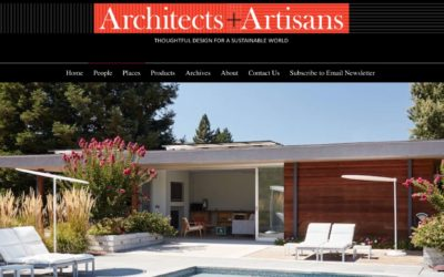 Architects and Artisans Features our Sonoma Pool House and Guest House