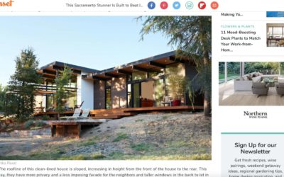 Sunset Magazine Features our Sacramento New Residence