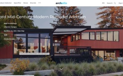 Archello Features our Stanford Mid-Century Modern Remodel Addition