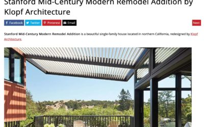 Home Adore Features our Stanford Mid-Century Modern Remodel Addition