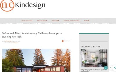 One Kindesign Features our Stanford Mid-Century Modern Remodel Addition