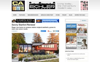 CA Modern Features our Stanford Mid-Century Modern Remodel Addition
