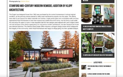 Architecture Art Designs Features our Stanford Mid-Century Modern Remodel Addition